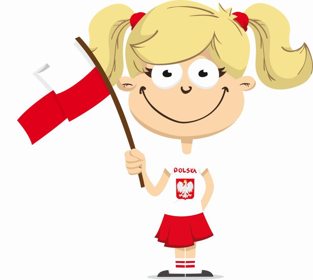 dziewczynka z flagą