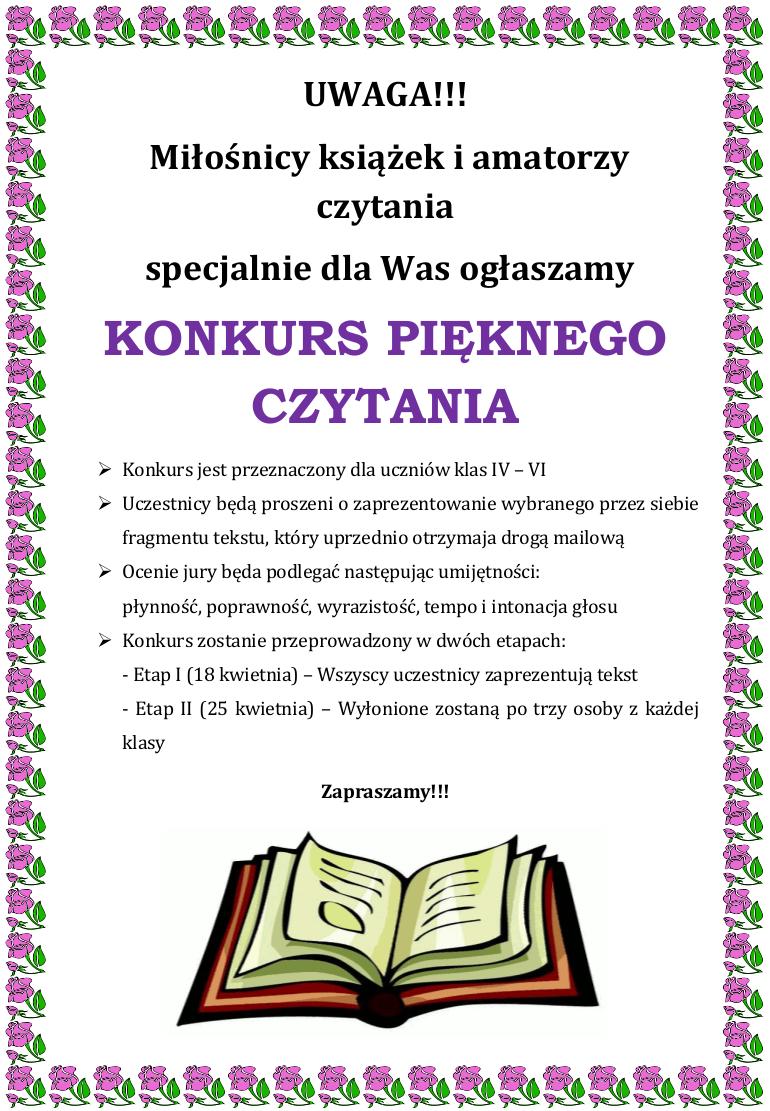 konkurspieknegoczytania_plakat